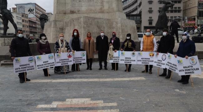 Usta Öğreticiler Özlük Hakları İçin Ankara'da Toplandı!