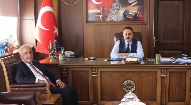 Rektör Çomaklı'dan Başsavcı Tuncel'e Hayırlı Olsun Ziyareti