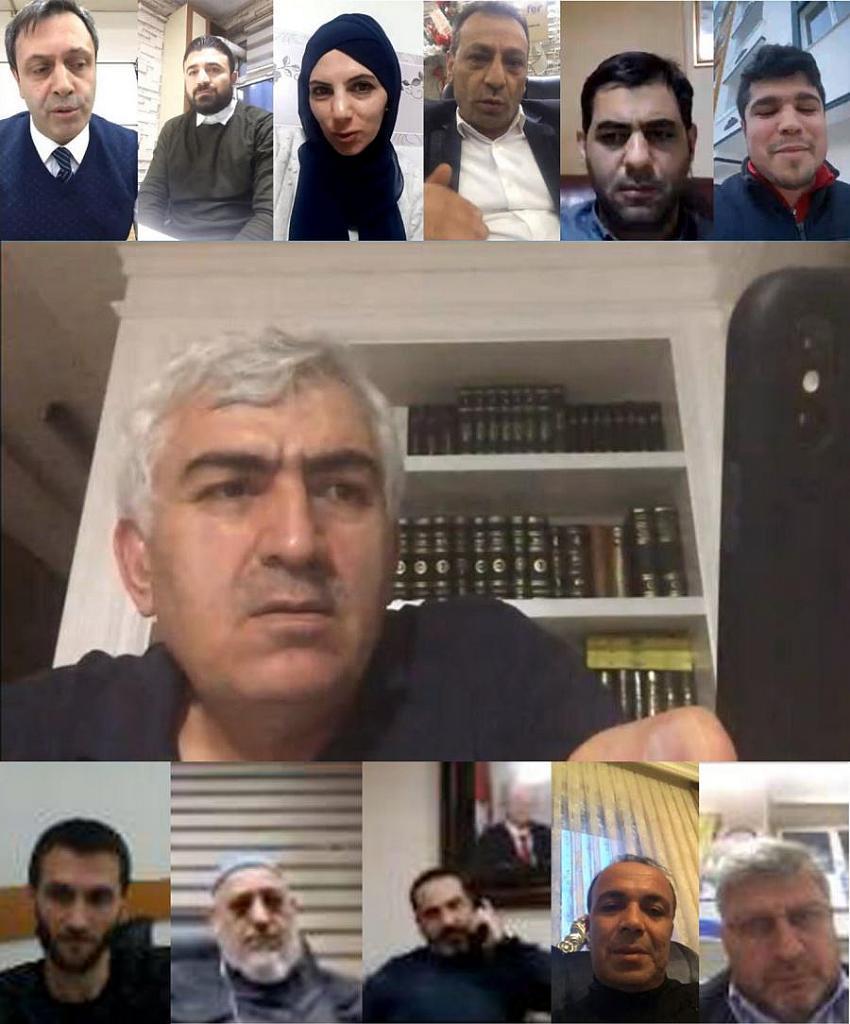 Ak Parti Erzurum İl Yönetimi Telekonferansla Toplantı Yapıyor
